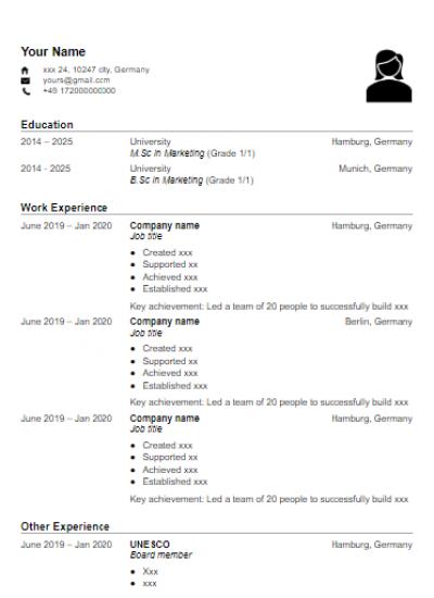 CV template 3